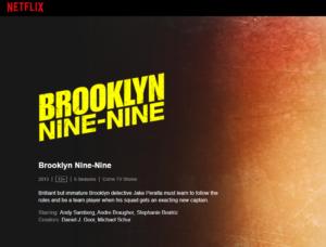 Brooklyn Nine-Nine on Netflix