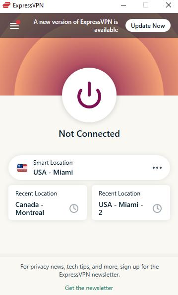 ExpressVPN disconnected