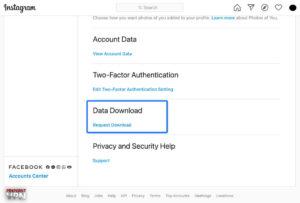 IG data download