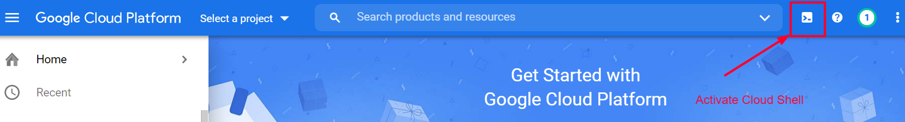 Activate Google Cloud Shell
