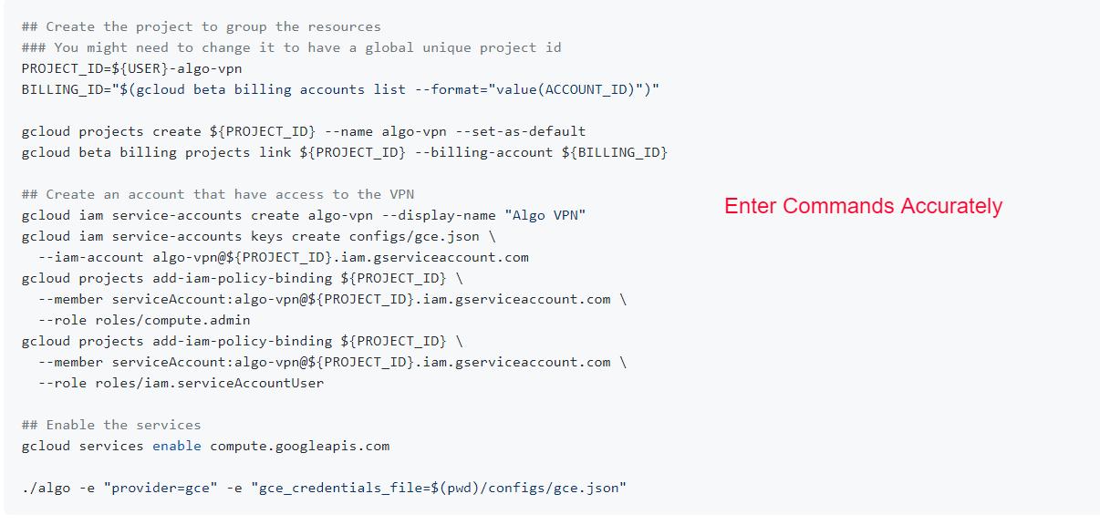 Cloud Server Setup Commands