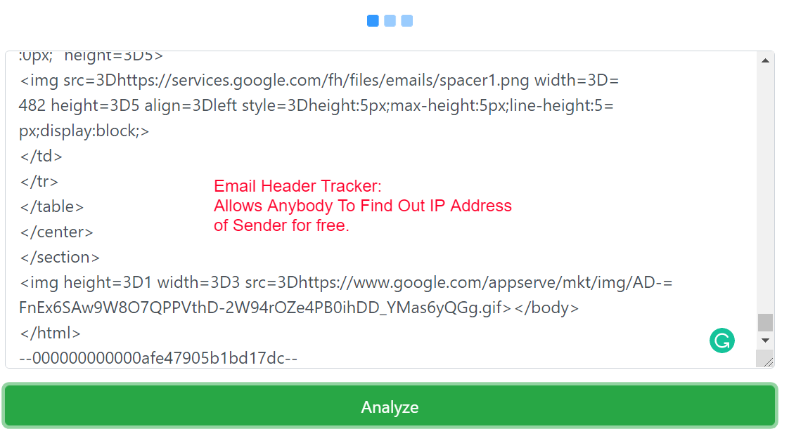 Email IP Tracker