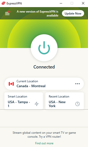 Express VPN Connected