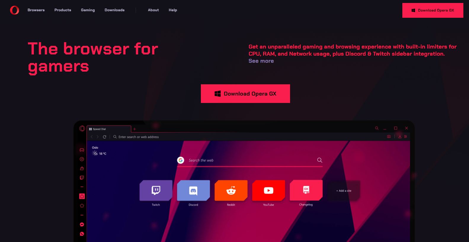 Opera The Browser For Gamers