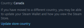 Steam Store Country