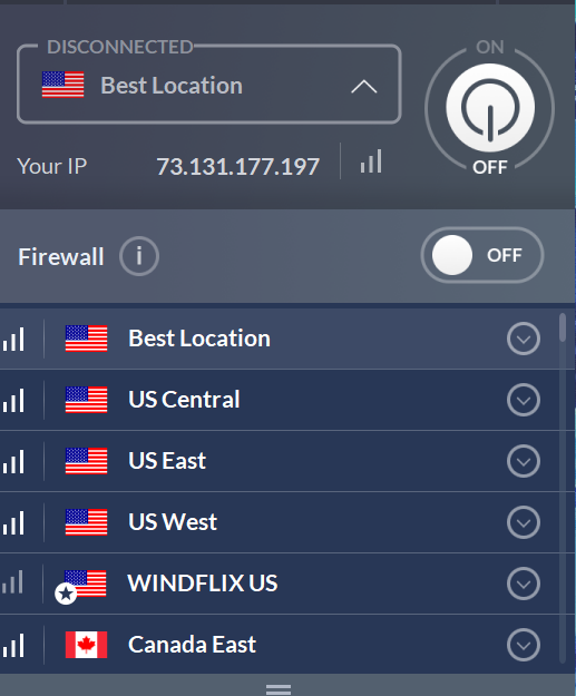 VPN Network Country