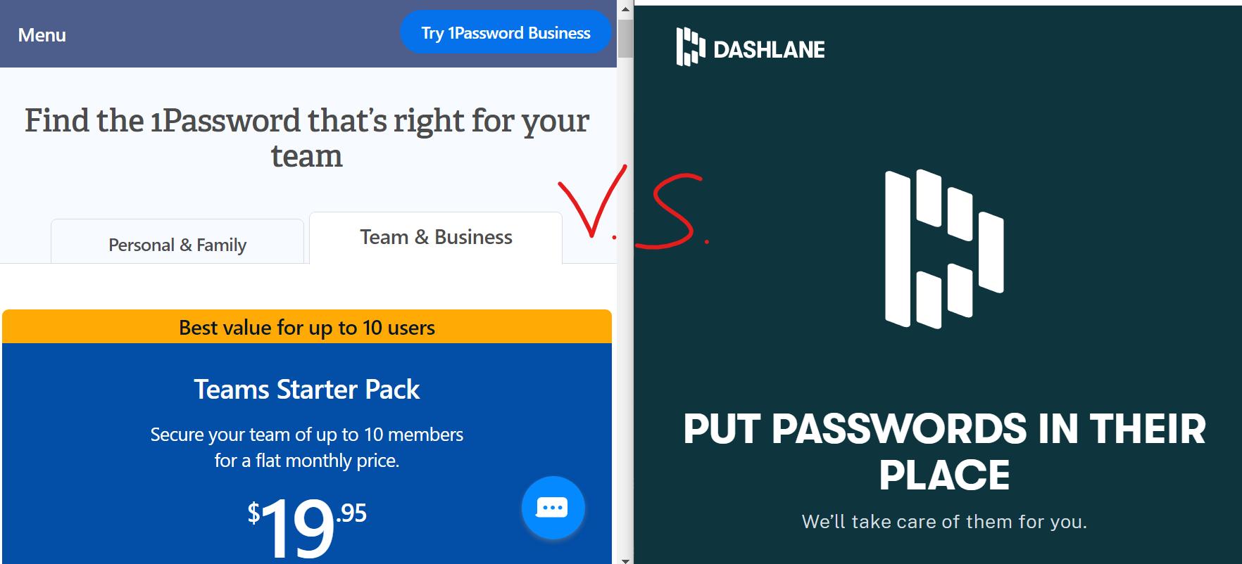 Dashlane vs 1Password