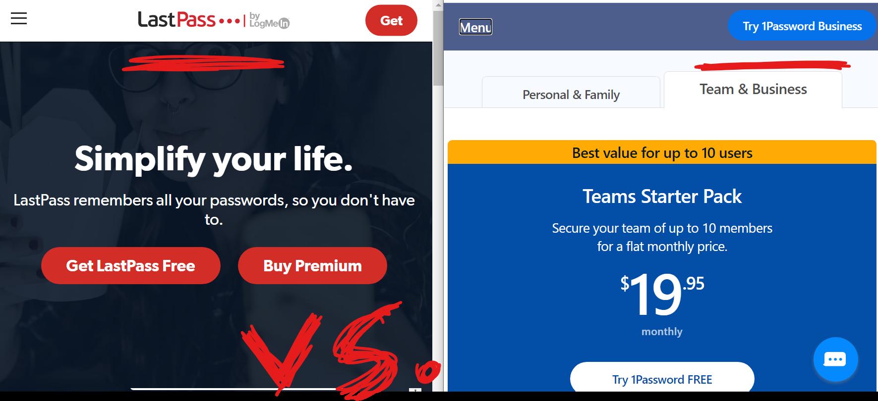 LastPass vs 1Password